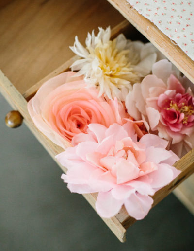 Flores de seda.