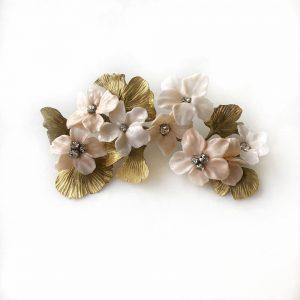 Tocado con hojas de Ginkgo y flor del almendro